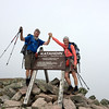 Sheryl and Mark Lambert at the end of the Appalachian Trail at Mt Katahdin in Maine.