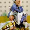 JIM VAIKNORAS/Staff photo Norman Rockwell EXASPERATED NANNIE Figurine Post 1936 Dave Grossman Design 1980 $25 at Oldies.