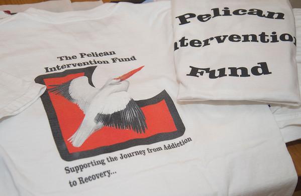 JIM VAIKNORAS/Staff photo Pelican Intervention fund t shirt with logo