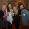 JIM VAIKNORAS/Staff photo Jen Fisher of Willow Event Planning, Janis Snell of Janis Snell Clligraphy, Mary Barnhart of Simply B Printing, and Matt Forcier of LMV Videography at the Camber Mixer at Oak Hill Cemetary.