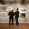 David R. Rossetti and his son Daniel Rossetti take in art at the Fall Members Juried Show Saturday, October 15, at Newburyport Art Association. Photo by Nicole Goodhue Boyd