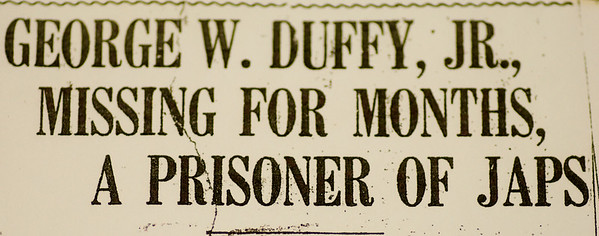 JIM VAIKNORAS/staff photo A headline in the Daily News of Newburyport from 1943