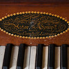 JIM VAIKNORAS/Staff photo A piano forte make by Caster and Company between 1810-1820  in the parlor at the Coffin House in Newbury.