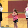 JIM VAIKNORAS/Staff photo Arielle shraugher Claire Doran, Taryn Lebreck practice at the Nock Middle School.