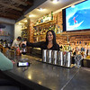 BRYAN EATON/Staff photo. Bartender Stephanie Powers serves Frank Arena of Newburyport who stopped in for lunch.
