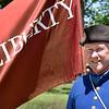 BRYAN EATON/Staff photo. Revolutionary War reenactor Steve Crosby.