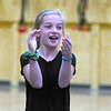 JIM VAIKNORAS/Staff photo Alex Trimper leads a cheer during practice at the Nock Middle School.