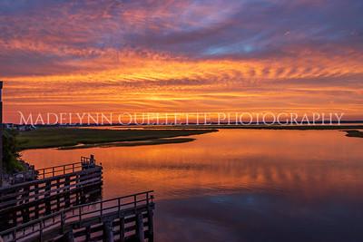 Burner Sunset on the Marsh
