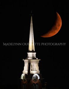 Crescent Moon over Central Churh