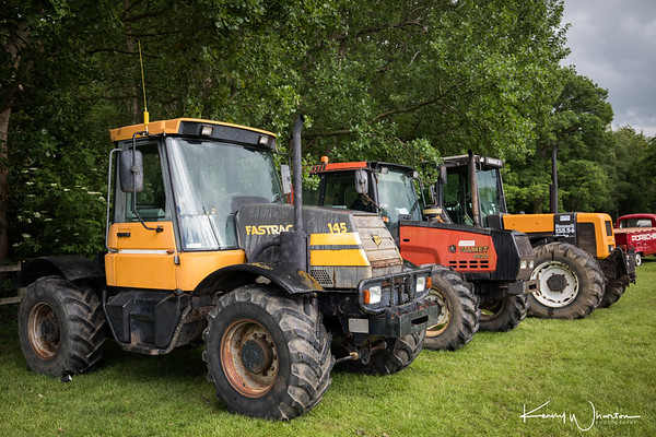 Three big lads line up, JCB, Valmet and Renault