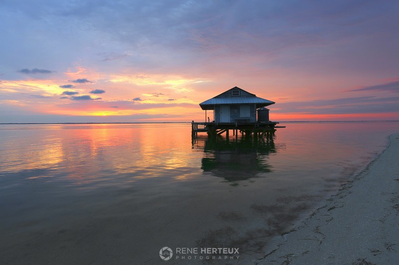 Sunrise at fish house