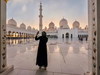 Selfie in the Mosque.