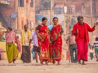 Colorful Hindu pilgrims.