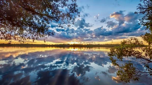 Summer sunset in Canada.