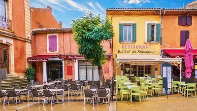 Village made of ochre.