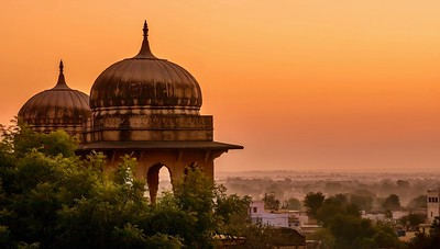 Palace domes looking beautiful at dawn.