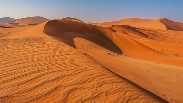 The beautiful dunes of the Namib Desert.