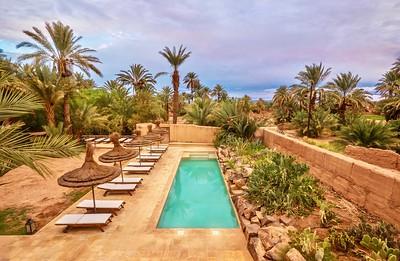 Hotel in a desert oasis.
