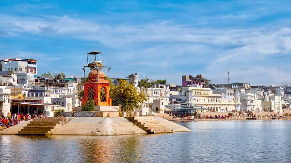 Pushkar Lake, Rajasthan, India.