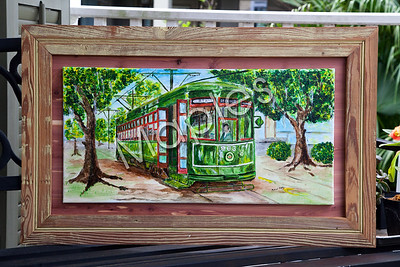 """Streetcar Ride"".  I love this piece, it's so New Orleans.  Hanging i NOLA Beans."