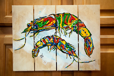 "My ""Shrimps"".  I love painting shrimp."