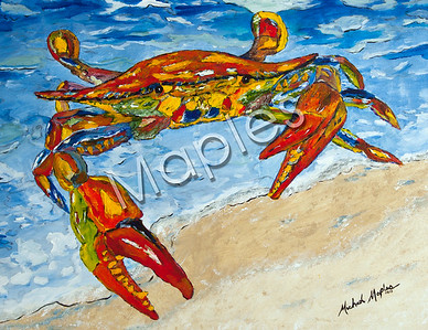 My very first colorful crab of this size.  It was 36 x 42 I believe.  I had a lot of fun with this one.