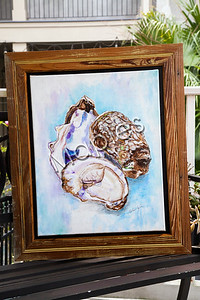I believe this is my first oyster I've ever painted.  Still not sold and hanging in NOLA Beans on Harrison Ave.