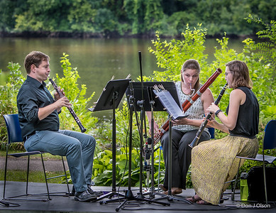 Trio Vientos is a woodwind trio comprised of Brendon Bushman (oboe), Emma Plehal (bassoon), and and Carley Olson (clarinet). @ Munsinger/Clemens Gardens St. Cloud MN.