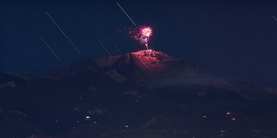 Pikes Peak New Years Fireworks Display