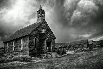 Church in Bodie State Historical Site in California.