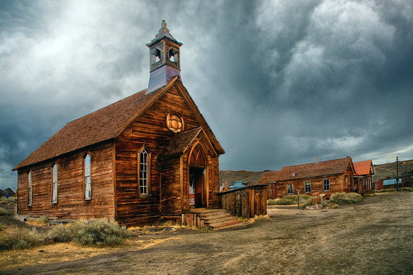 Church in Bodie State Historical Site in California.