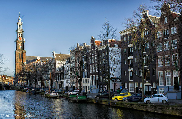 Along the canals in Amsterdam