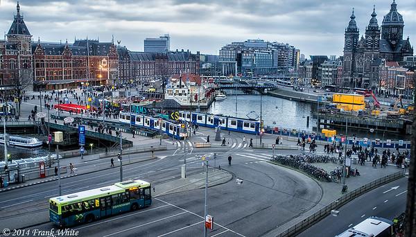 Bustling Amsterdam