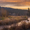 Colorful Last Light over Middle Fork Feather River