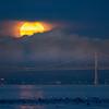 Full Moon Setting Over San Francisco Bay