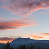 Penman Peak and Colorful Sunset Clouds