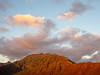 Warm Light on Mountain on Clouds