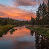 Middle Fork Feather River Sunset and Reflection, 8:30pm