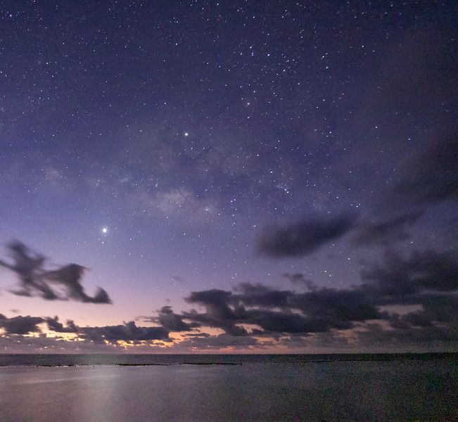 Pre-Dawn Sky over Turneffe Flats