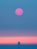 Wildfire-Colored Sun Setting over Salesforce Tower