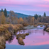 Pink Sky and Pink Reflection, Middle Fork Feather River