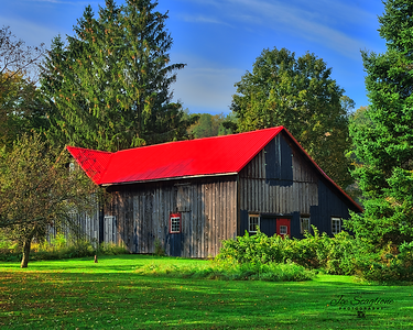 barn red roof 928