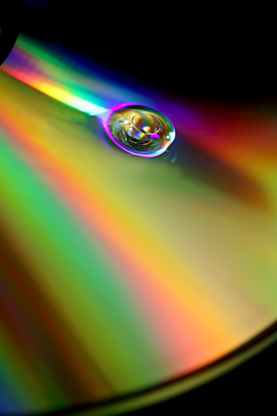 drop of water on drop of oil, on CD