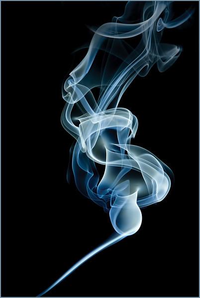 smoking pipe - incense smoke
