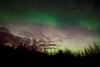 My 8-yr-old granddaughter and I enjoyed a brief Northern Lights display before the clouds rolled in.