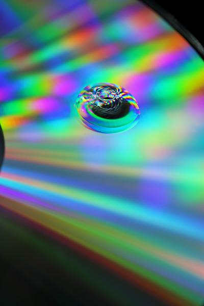 drop of water on drop of oil, on CD