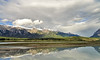 Kootenay Plains, over North Saskatchewan River, AB, Canada