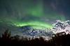 Aurora during rising moon