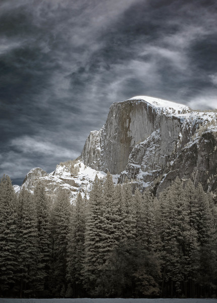 halfdome in infrared