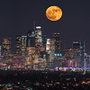supermoon over downtown los angeles